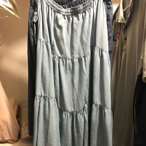Long chambray gap skirt